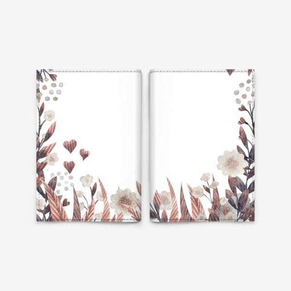Обложка для паспорта «Осенние цветы»