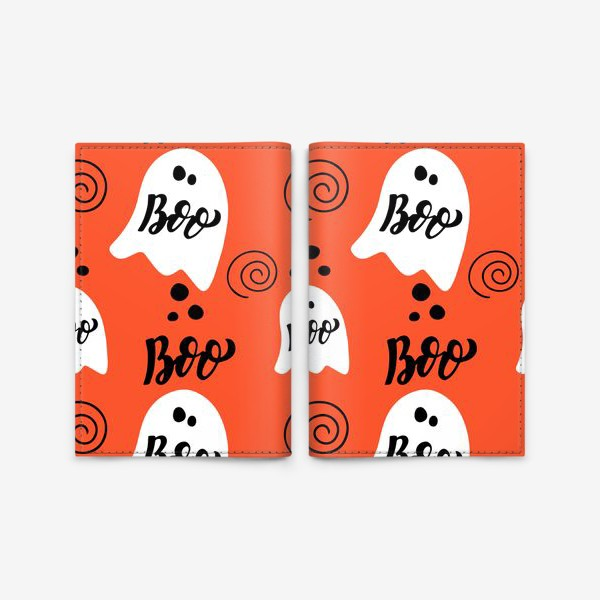 Обложка для паспорта «Хэллоуин: приведения. Boo, halloween»