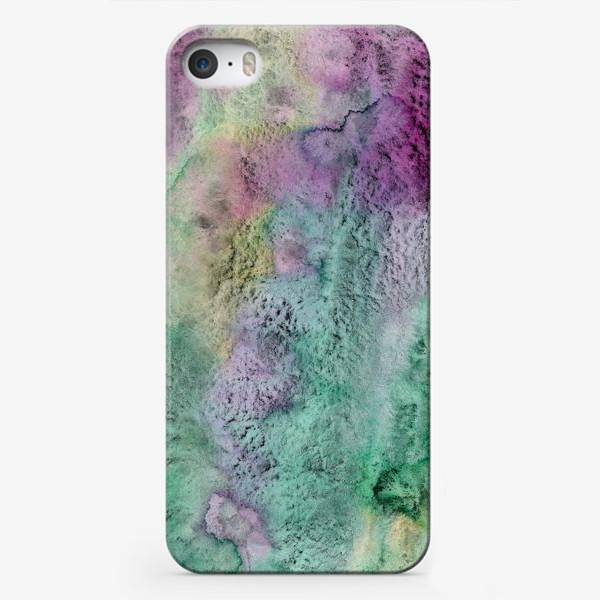 Чехол iPhone «Акварельная абстракция в стиле гранж»