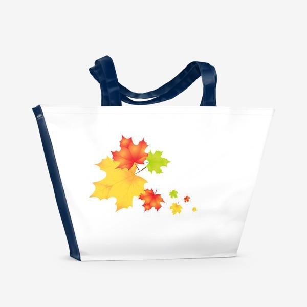 Пляжная сумка «Кленовые листья»