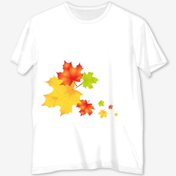 Футболка с полной запечаткой «Кленовые листья»
