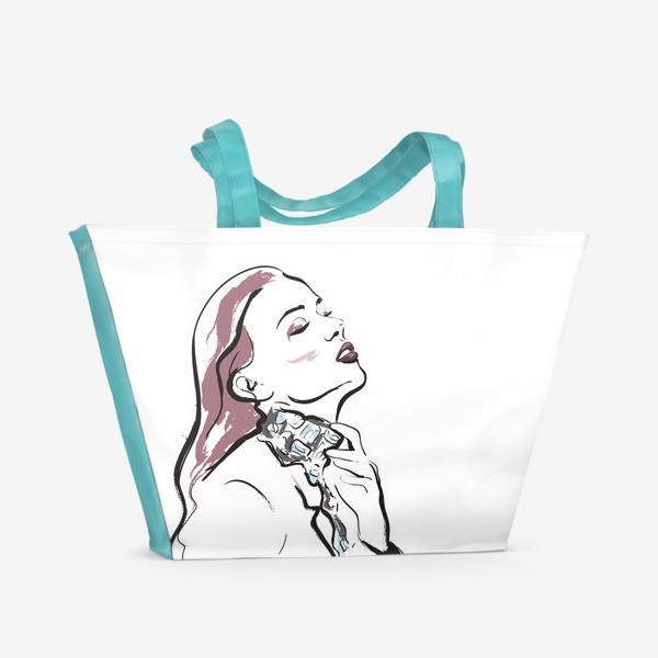 Пляжная сумка «Fashion | Девушка 3»