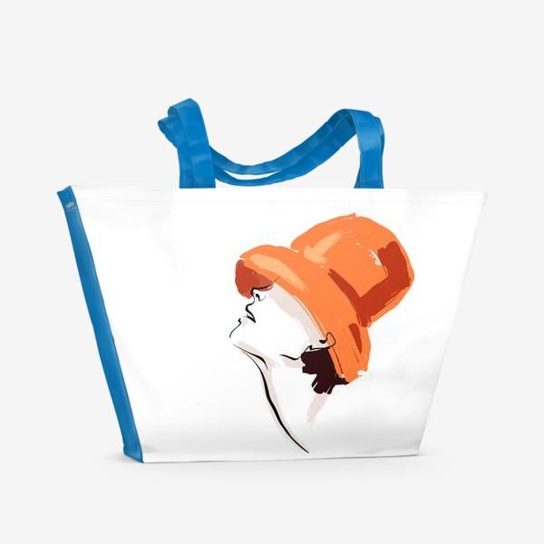 Пляжная сумка «Fashion | Девушка в шляпе»