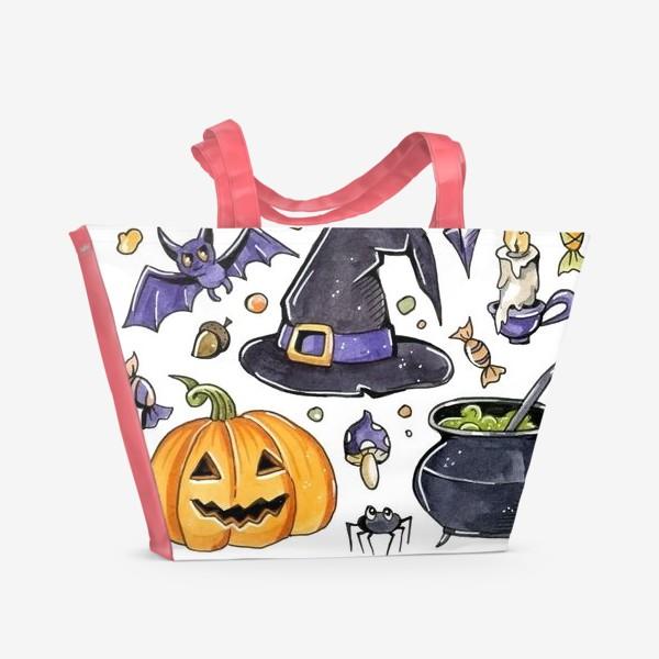 Пляжная сумка «Принт Хеллоуин»