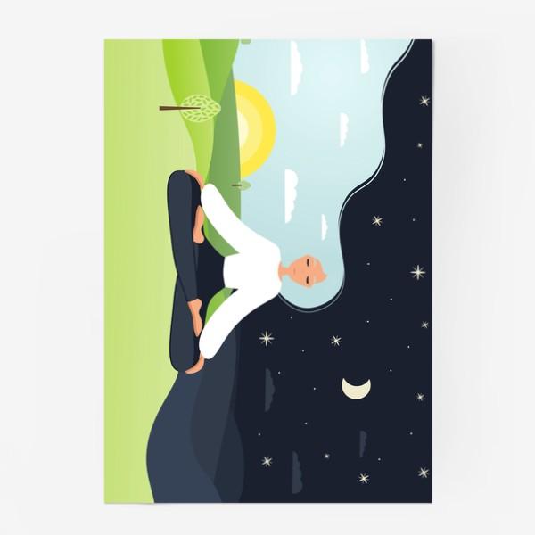 Постер «Йога. День и ночь. Медитация. »