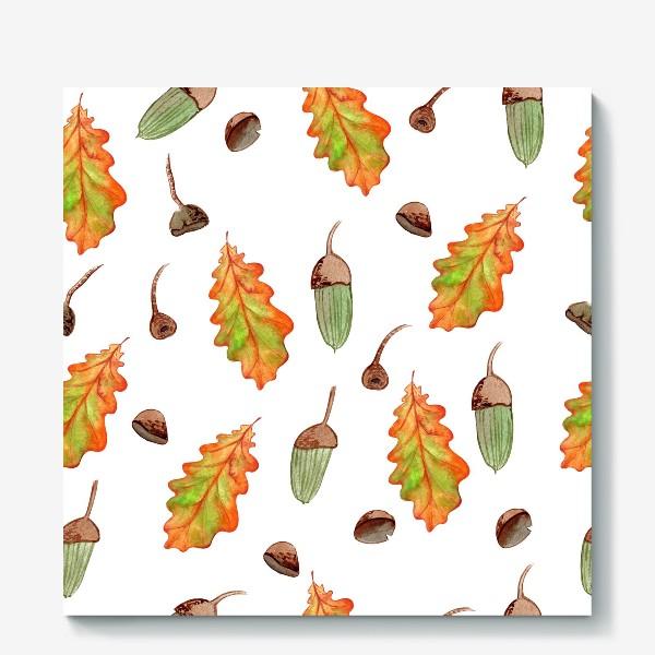 Холст «листья и желуди»