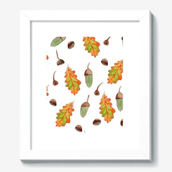 Картина «листья и желуди»