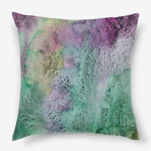 Подушка «Акварельная абстракция в стиле гранж»