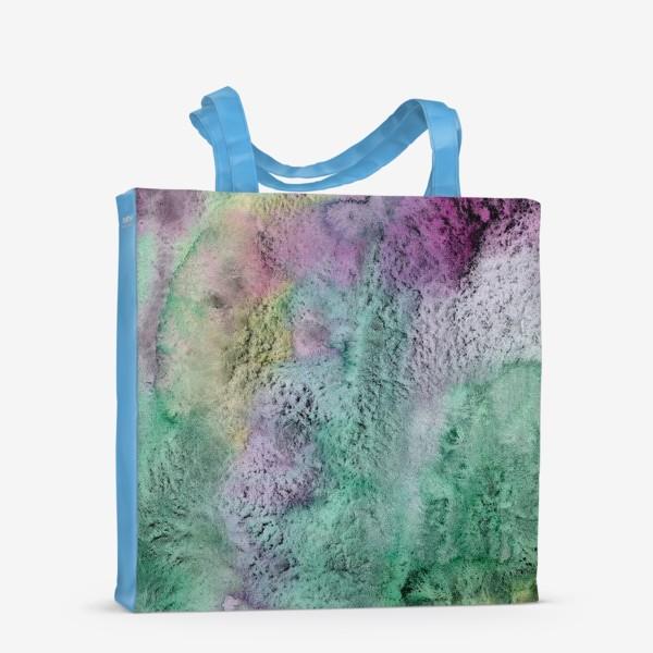 Сумка-шоппер «Акварельная абстракция в стиле гранж»