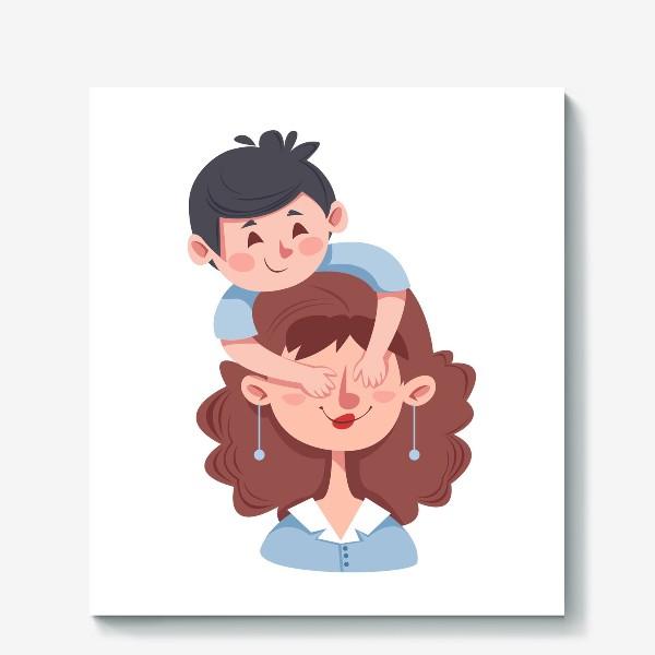 Холст «Мама и сын»