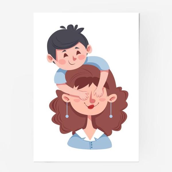 Постер «Мама и сын»