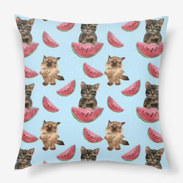 Подушка «котята и арбуз»
