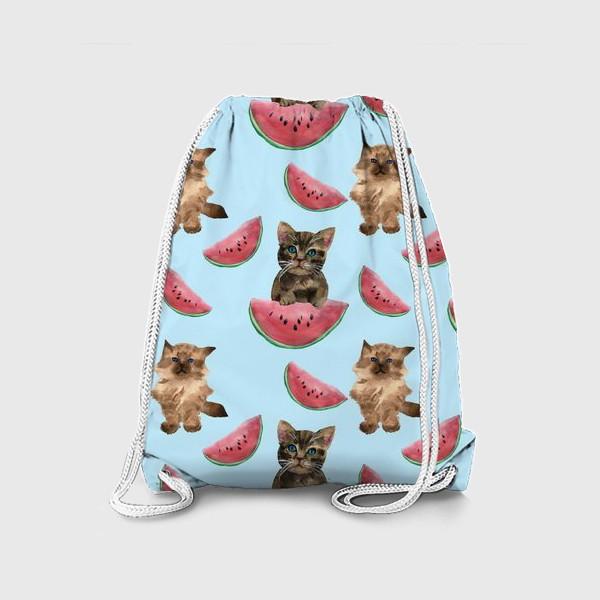 Рюкзак «котята и арбуз»