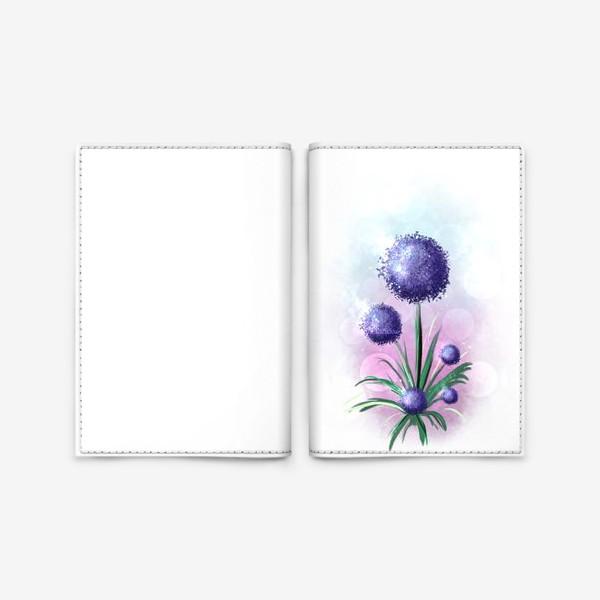 Обложка для паспорта «Синий цветок»