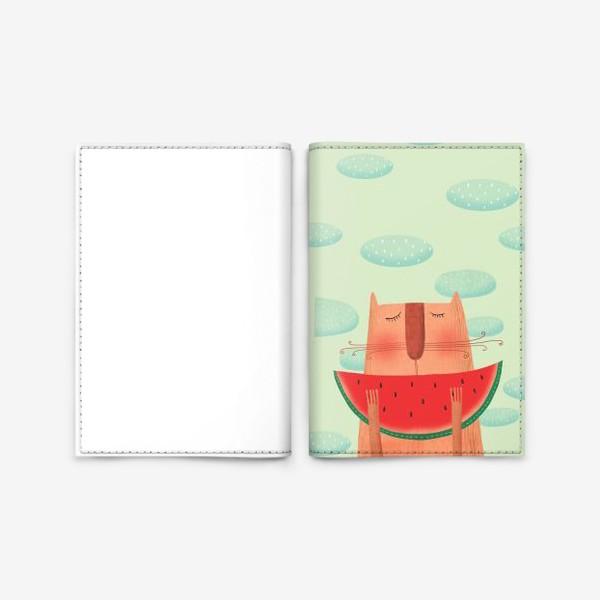 Обложка для паспорта «Кот и арбуз»