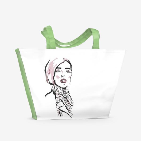 Пляжная сумка «Fashion | Девушка 2»