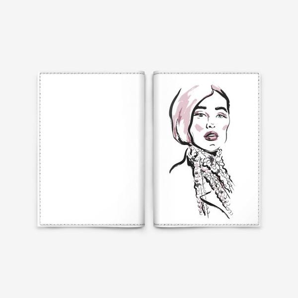 Обложка для паспорта «Fashion   Девушка 2»