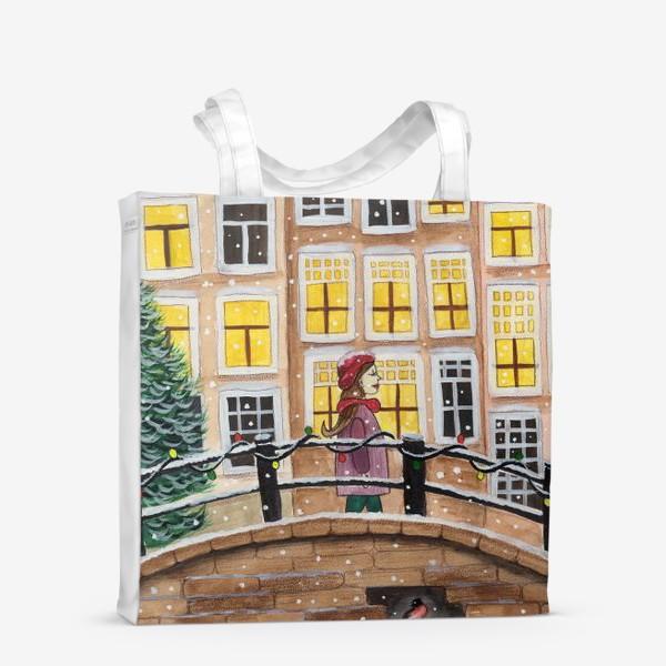Сумка-шоппер «Снежный вечер в городе»