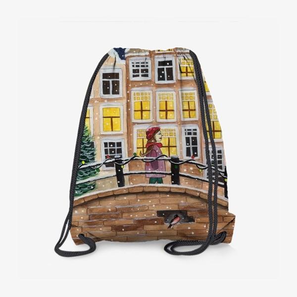 Рюкзак «Снежный вечер в городе»