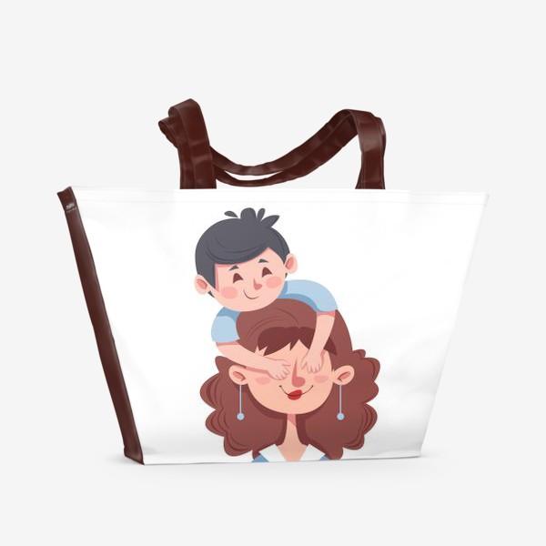 Пляжная сумка «Мама и сын»
