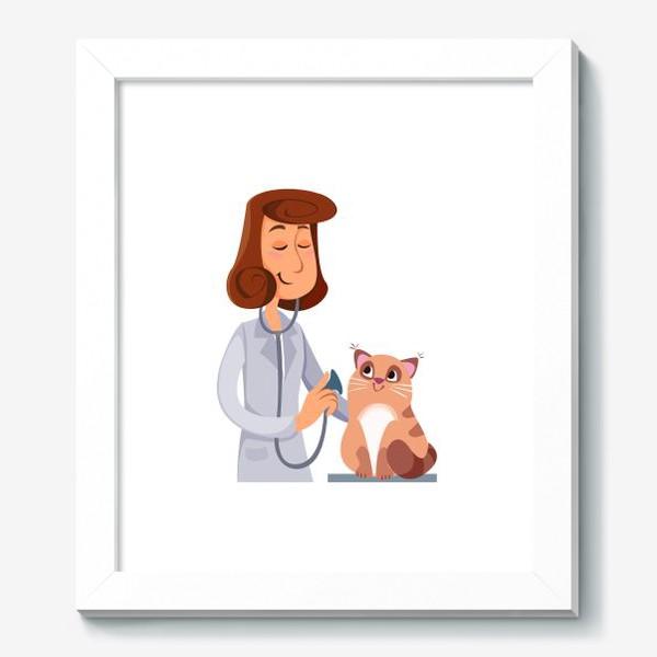 Картина «Ветеринар с котом»