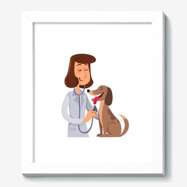 Картина «ветеринар с собакой»