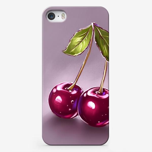 Чехол iPhone «Вишни»