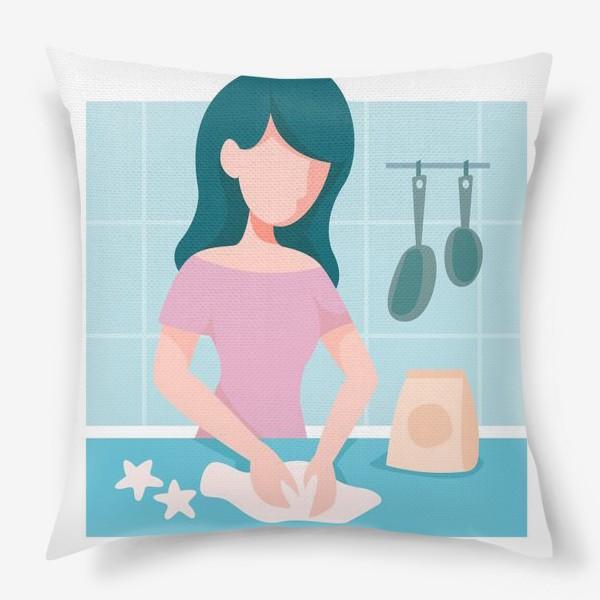 Подушка «девушка кондитер или повар»