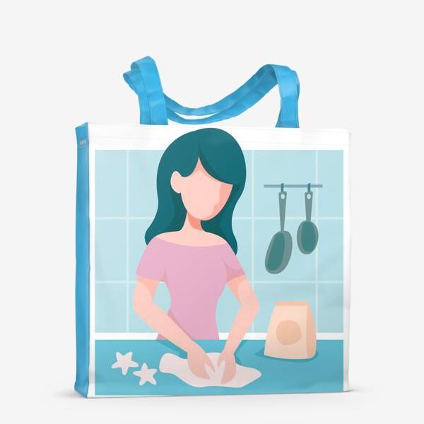 Сумка-шоппер «девушка кондитер или повар»