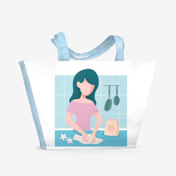 Пляжная сумка «девушка кондитер или повар»