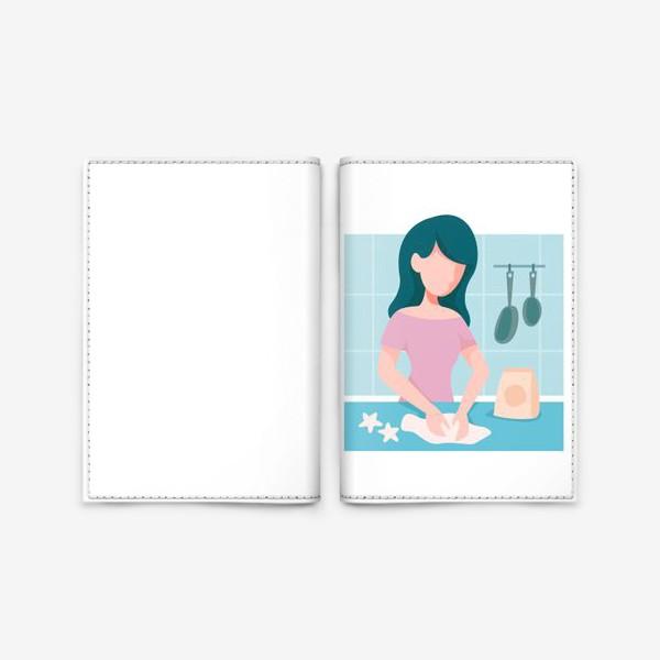 Обложка для паспорта «девушка кондитер или повар»