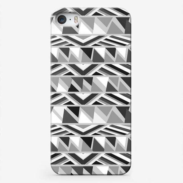 Чехол iPhone «геометрия в сером»