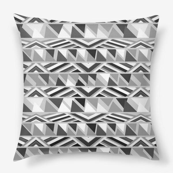 Подушка «геометрия в сером»