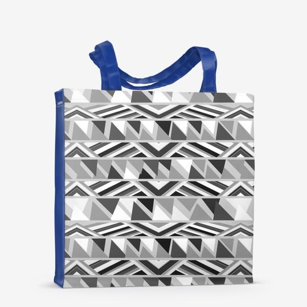 Сумка-шоппер «геометрия в сером»