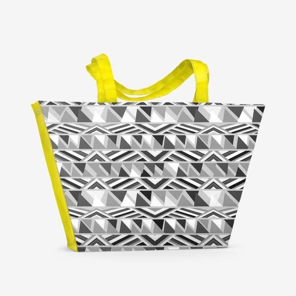 Пляжная сумка «геометрия в сером»