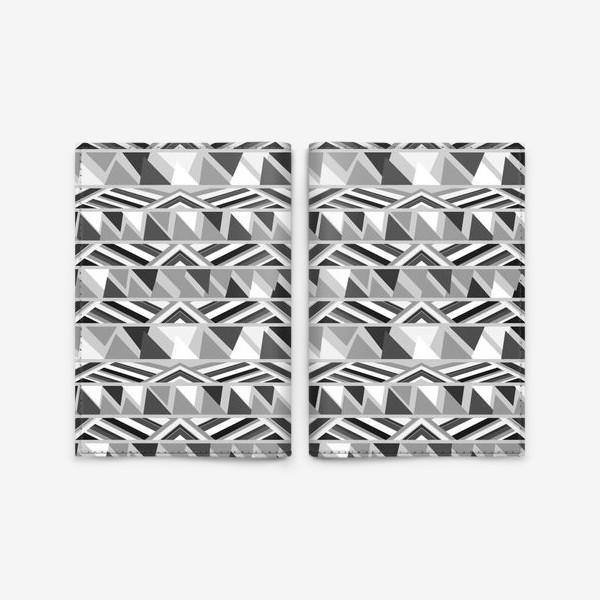 Обложка для паспорта «геометрия в сером»
