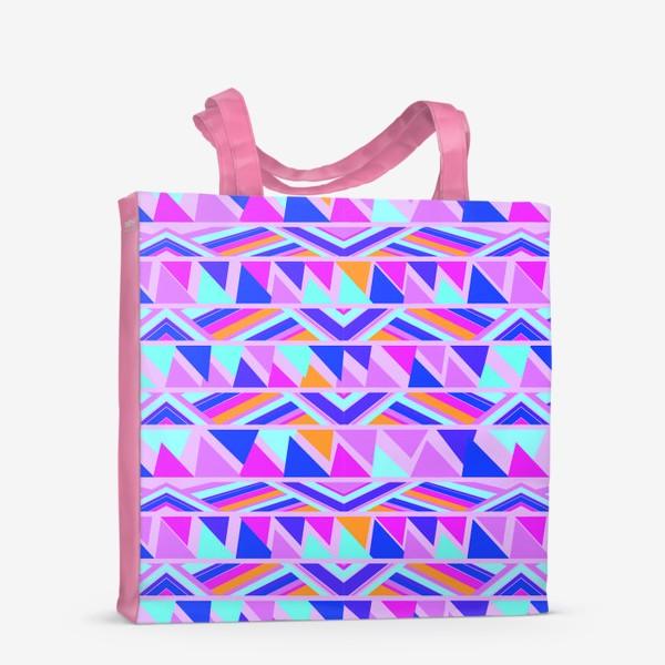 Сумка-шоппер «геометрия в полосках»