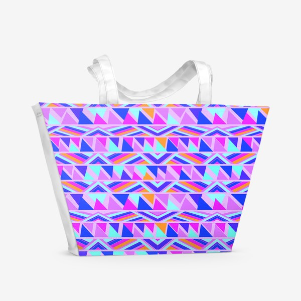 Пляжная сумка «геометрия в полосках»
