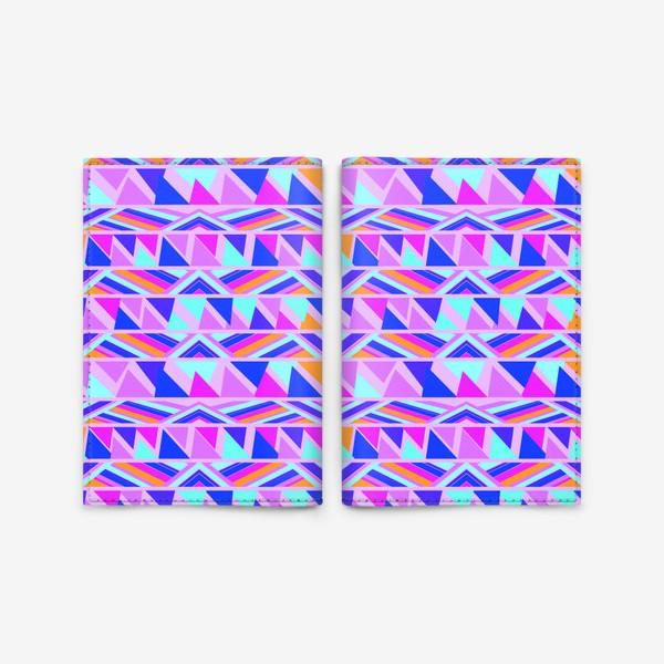 Обложка для паспорта «геометрия в полосках»