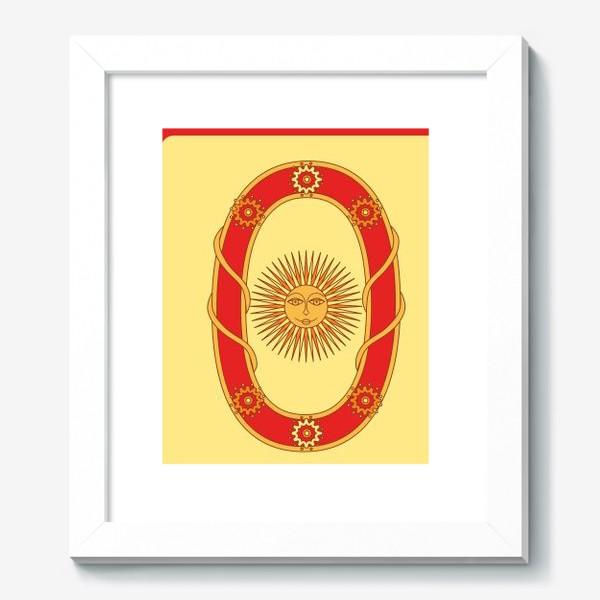 Картина «Буква О в старорусском стиле»