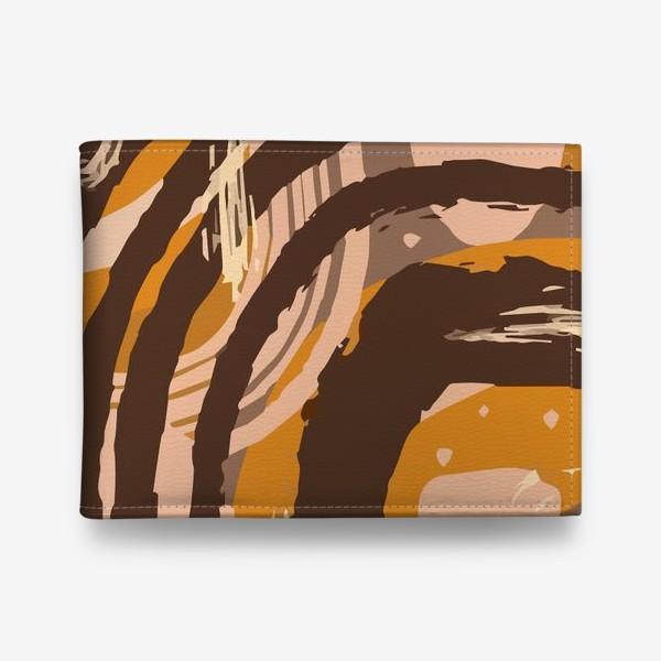 Кошелек «Современный модный абстрактный узор в коричневых пастельных тонах. пятна, овалы, круги, разводы»