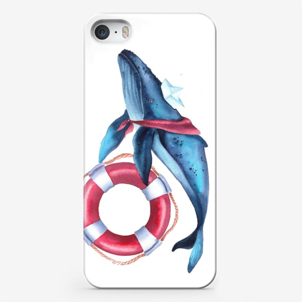 Чехол iPhone «Кит морячок»