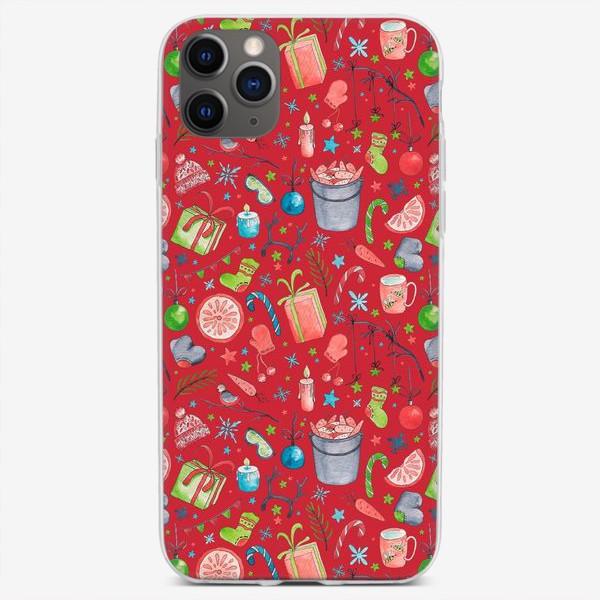 Чехол iPhone «Новый год. Красный.»