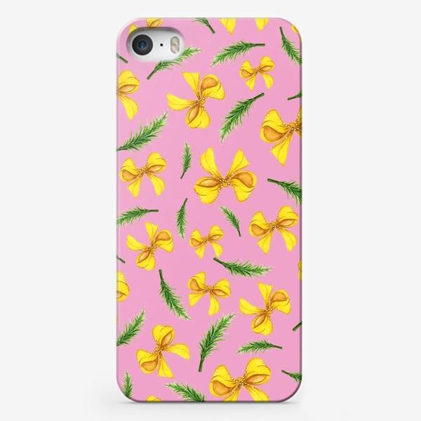 Чехол iPhone «Бантики и веточка»