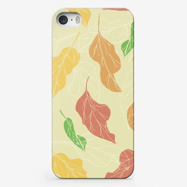 Чехол iPhone «цветные листья»