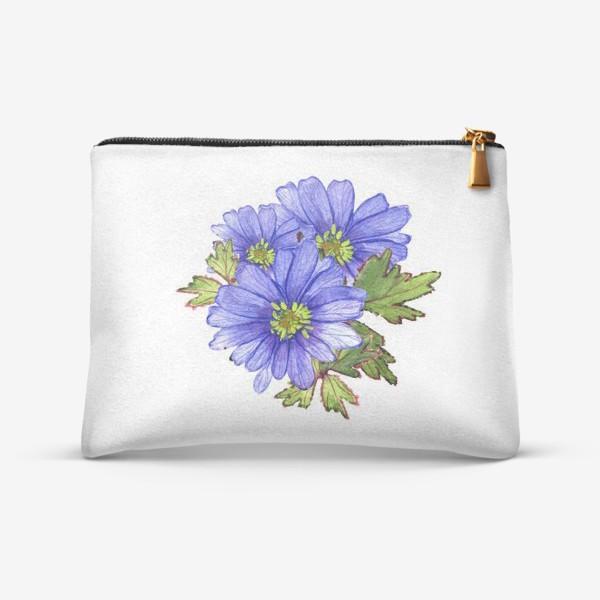 Косметичка «синие цветы»