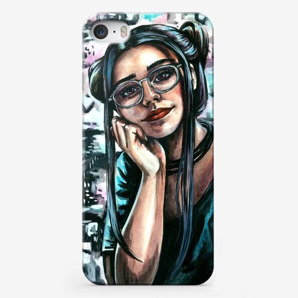 Чехол iPhone «девушка в неоне»