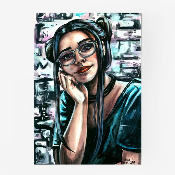 Постер «девушка в неоне»