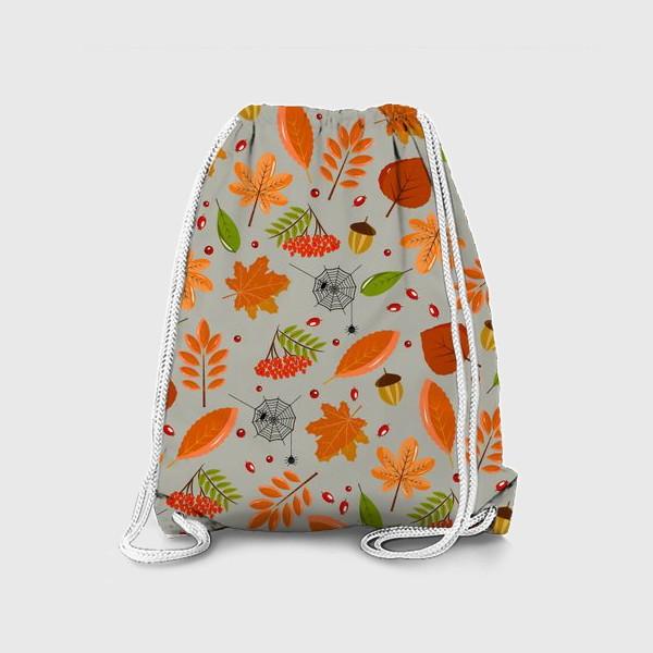 Рюкзак «осенние листья и паутинка»