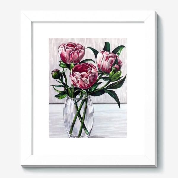 Картина «Пионы в вазе. Маркеры»